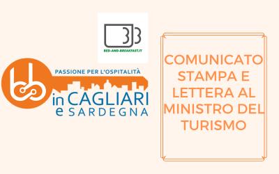 Comunicato Stampa e Lettera al Ministro del Turismo